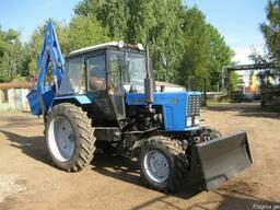 Экскаватор-бульдозер на базе трактора