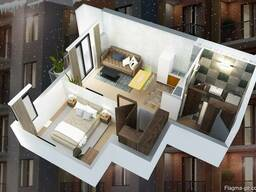 Продам 2-х комнатную квартиру студия - фото 2