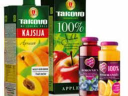 Фруктовые соки (100% фруктовые)