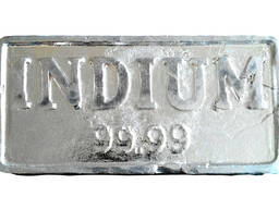 Индий в слитках | ლითონის ინდიუმის ბრენდი INOO GOST 10297-94