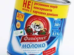 """Молоко цельное сгущенное с сахаром """"Фаворит"""" 8, 5% жира"""