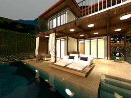 Продаётся VIP вилла с видовым бассейном в пригороде Батуми